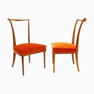 Chaises de Salon par Andre Arbus, France, Set de 2