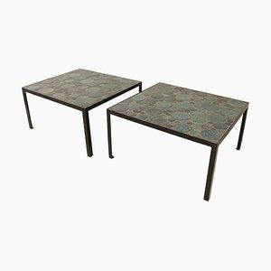 Ceramic Coffee Tables by Aliette Vliers, Set of 2