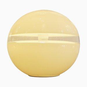 Lampada da tavolo LT231 in vetro di Murano bianco di Carlo Nason per Mazzega