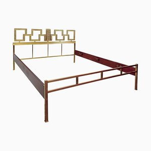 Italian Brass Double Bed, 1960s