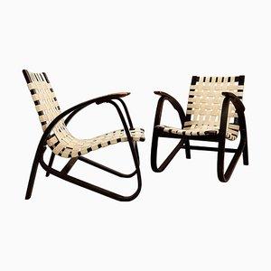 Lounge Chairs by Jan Vaněk for UP Závody, Czech, 1930s, Set of 2