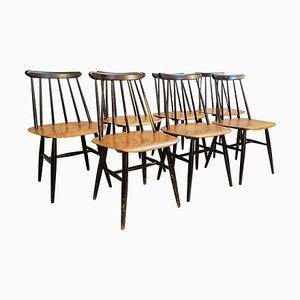 Dining Chairs by Ilmari Tapiovaara for Edsby Verken, Set of 7