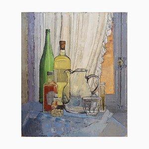 Victor Petré, Still Life Painting on Canvas, Belgium, 1960s