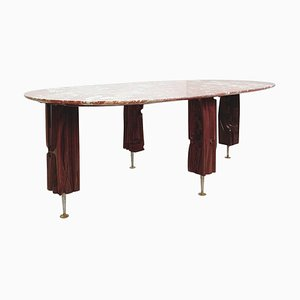 Coffee Table in Wood and Marble Top by Yasuo Fuke