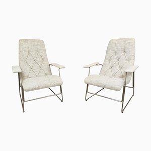 Italian Armchairs with Adjustable Seats, 1960s, Set of 2