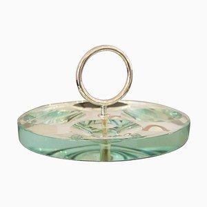 Aschenbecher oder Vide-Poche aus Kristallglas von Fontana Arte, Italien, 1960er