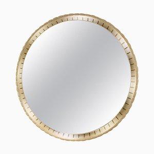 Specchio grande illuminato in legno, Italia, anni '40