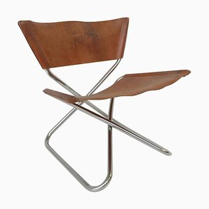 Chrome and Leather Stool