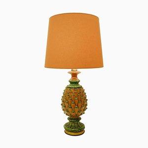 Lampada da tavolo in ceramica a forma di ananas