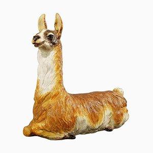 Glazed Ceramic Llama, Italy, 1970s