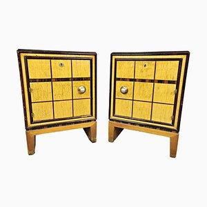 Tables de Chevet Art Déco, Italie, Set de 2