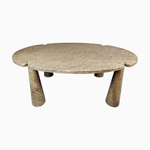Oval Mondragone Marble Dining Table by Angelo Mangiarotti for Eros