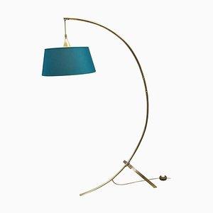 Brass Arc Floor Lamp by J. T. Kalmar for Kalmar, 1950s