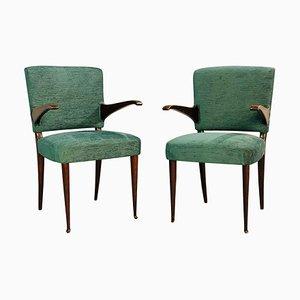 Armlehnstühle von Vittorio Dassi, 1950er, 2er Set