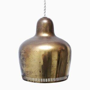 Golden Bell Pendant Lamp by Alvar Aalto for Artek, 1950s