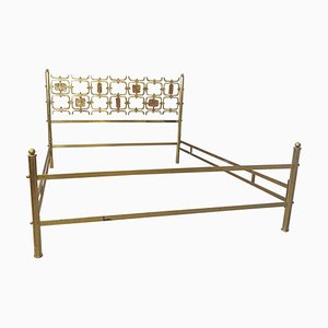Brass Double Bed by Osvaldo Borsani, Italy, 1960s