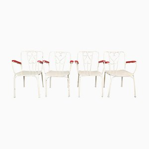 Metal Garden Chairs, Set of 4
