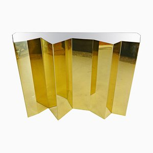 Brass and Mirror Console Table