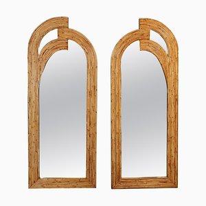 Rattan Mirrors, Set of 2