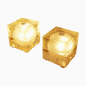 Cubo Sfera Table Lamps by Allesandro Mendia for Fidenza Gal Aria, 1968, Set of 2