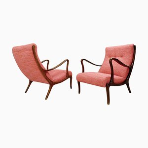 Lounge Chairs by Ezio Longhi, 1950s, Set of 2