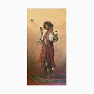 Arab Soldier in Prayer, 1899, Thé Ophile Lybaert