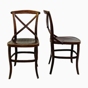 Late 19th Century N°91 Chairs by Jacob and Josef Kohn, Set of 2