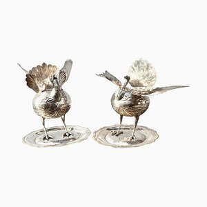 South American Perfume or Incense Burners in Silver, Set of 2