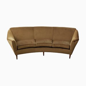 Curved Three-Seat Italian Sofa