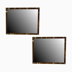 Specchi in ottone, set di 2