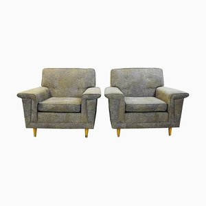 American Armchairs with Upholstery by Pierre Frey, Set of 2