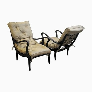 Lounge Chairs by Ezio Longhi 1950s, Set of 2