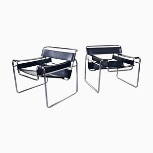 Model Wassily Armchairs by Marcel Breuer, Set of 2