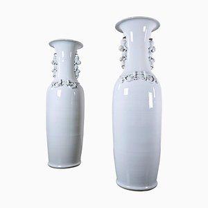 Large Chinese Porcelain Vases, 1900s, Set of 2