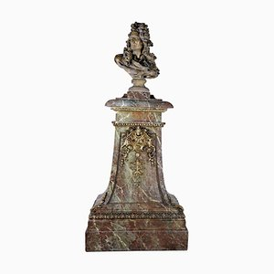 Plaster Bust of Corneille Van Cleve by Jean-Jacques Caffieri