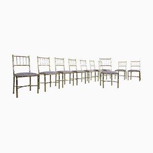 Chaises en Laiton, 1940s, Set de 10