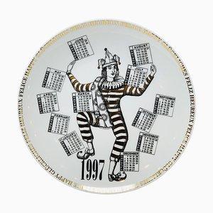 Porzellanteller Kalender von Piero Fornasetti, 1997