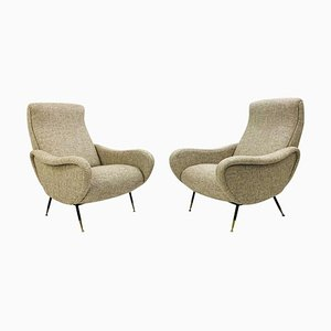 Italian Armchairs in the Style of Marco Zanuso, 1950s, Set of 2