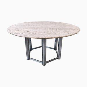Large Travertine Dining Table