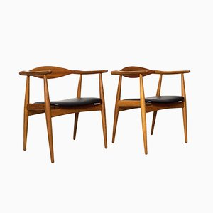 CH-35 Chairs by Hans J. Wegner for Carl Hansen, 1960s, Set of 2
