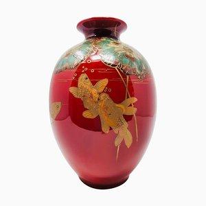 Jugendstil Vase von W. Æ. Hodkinson für Doulton & Co.