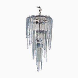Modell Cascade Opalglas Murano Glas Kronleuchter von Carlo Nason für Mazzega