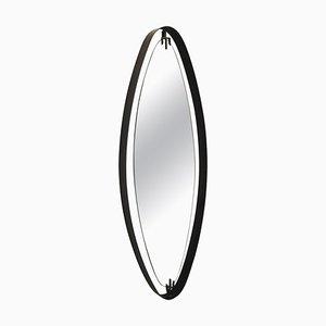 Specchio ovale in ferro di Santambrogio Y De Berti, Italia, anni '50
