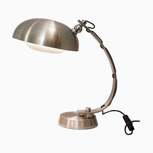 Brushed Chrome Arc Desk Lamp