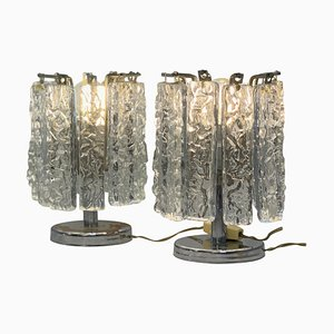 Small Table Lamps in the Style of Venini, 1960s, Set of 2