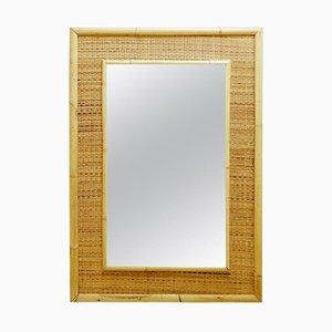 Miroir en Bambou et Rotin, Italie, 1970s