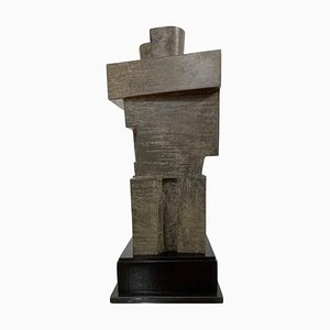 Cubist Bronze Sculpture the Twins by Willy Kessels, Belgium, 1920s