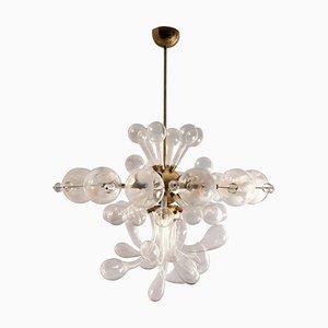 Czech Glass Ceiling Lamp, 1960s