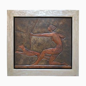 Art Deco Brass Plate by Claudius Linossier, France, 1920s