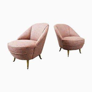 Italian Easy Chairs, 1950s, Set of 2